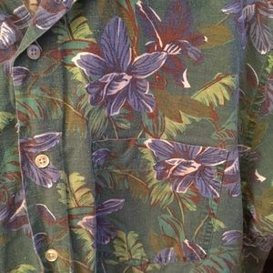 32047e5f GAP Shirts | Vintage Mens Hawaiian Shirt M Linen Blend | Poshmark
